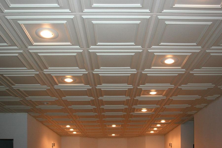 Suspended Ceiling Tile Ceilume Cambridge 2ft X 2ft White