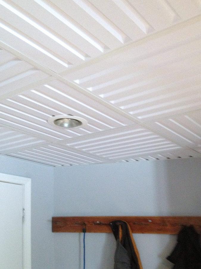 suspended ceiling tile ceilume southland 2ft x 2ft faux wood effect - Drop Ceiling Tiles