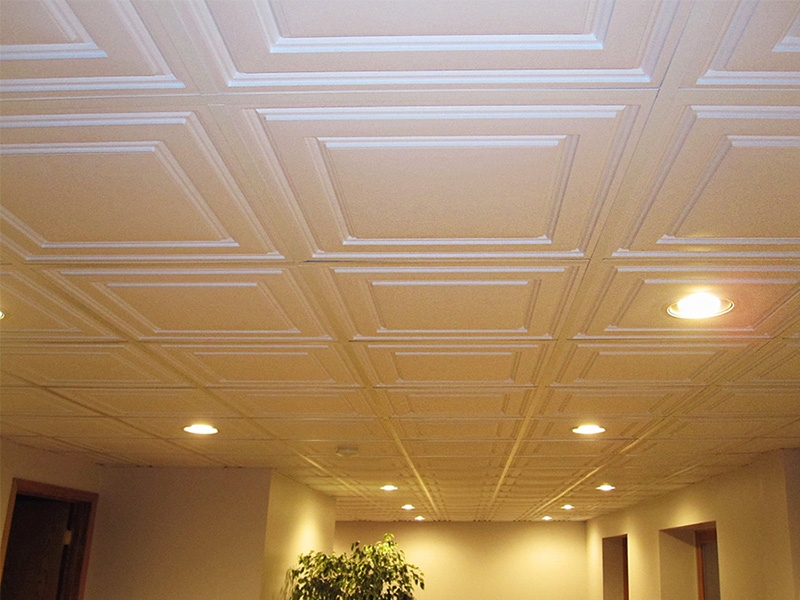 Suspended Ceiling Tile - Ceilume Stratford Ceiling Tile 2ft x 2ft White
