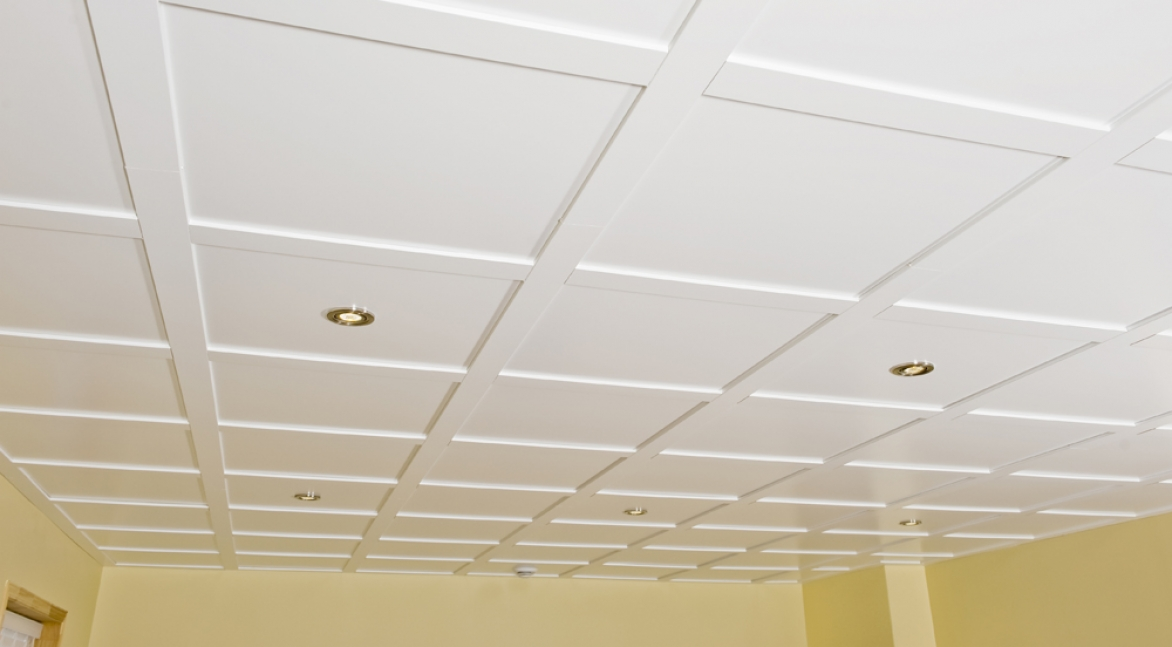 Suspended Ceiling Tile Embassy 2ft X 2ft Faux Wood Effect