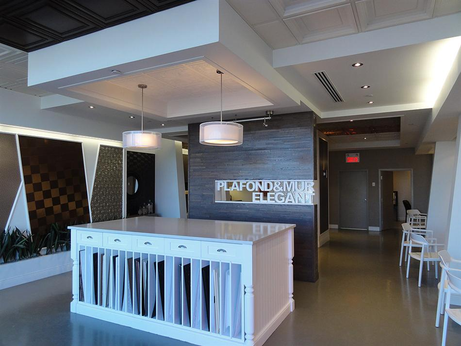 Suspended Ceiling Tiles Montreal Showroom -1