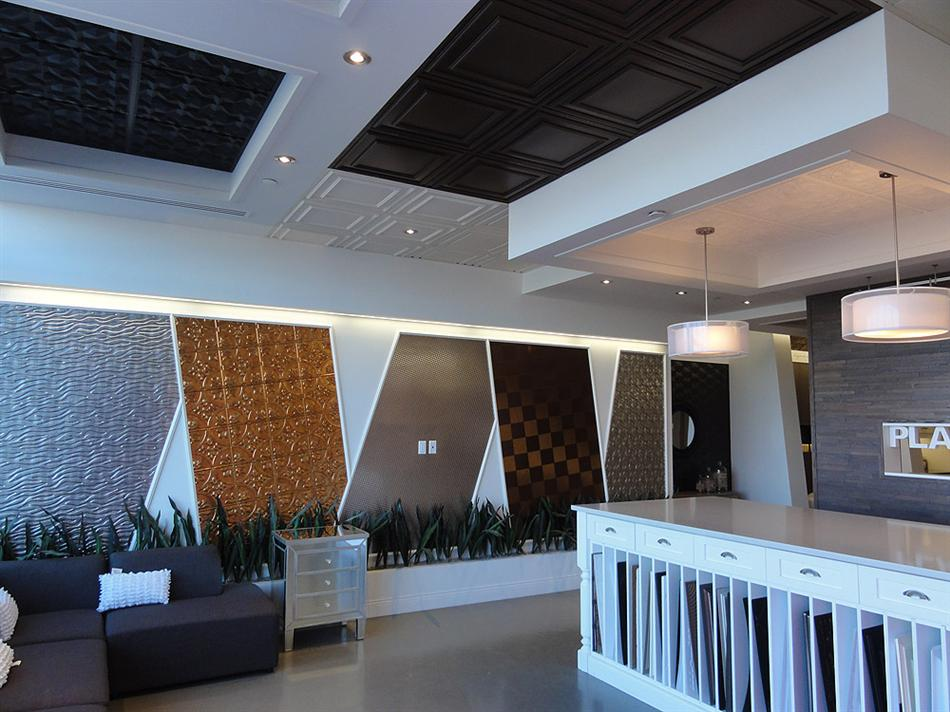 Suspended Ceiling Tiles Montreal Showroom -2