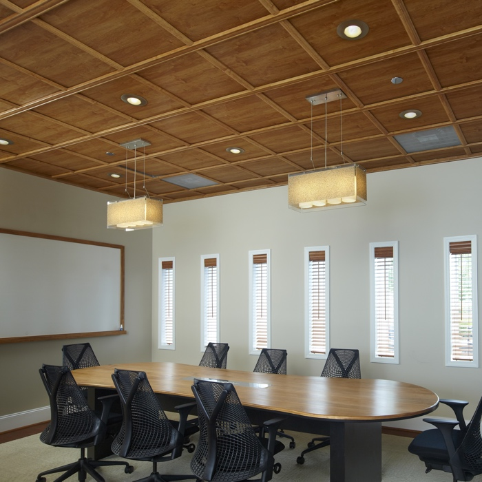 WoodTrac Suspended Ceiling in Bank Alder