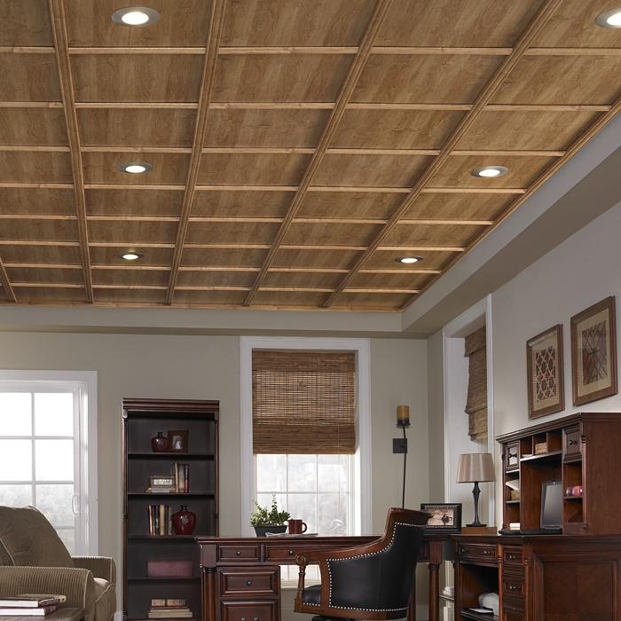 WoodTrac Suspended Ceiling in Abbey Oak